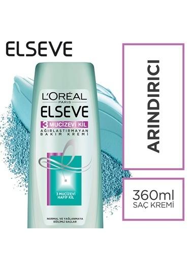 L'Oréal Paris Elseve 3 Mucizevi Kil Ağırlaştırmayan Bakım Kremi 360 Ml Renksiz